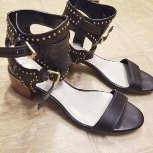1 State Studded Gladiator Heeled Sandals